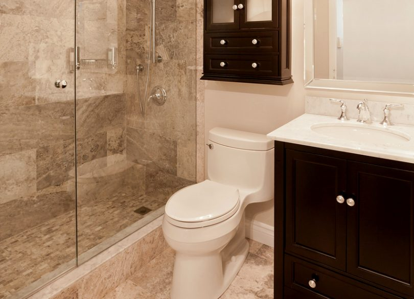 Elegant mobile home bathroom remodel