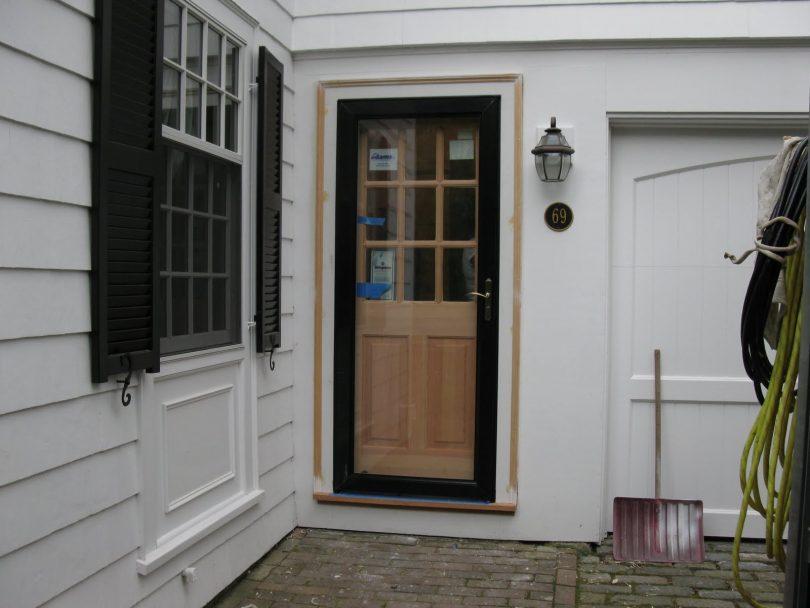 Full view storm door