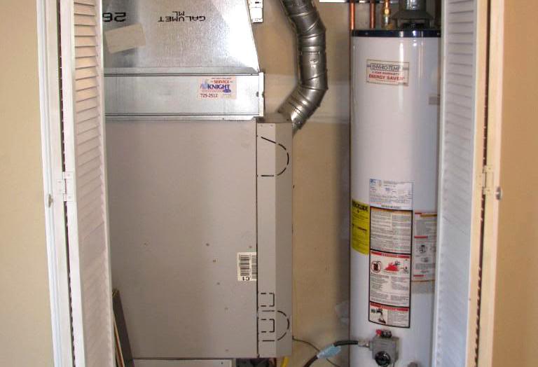 Furnace utility closet