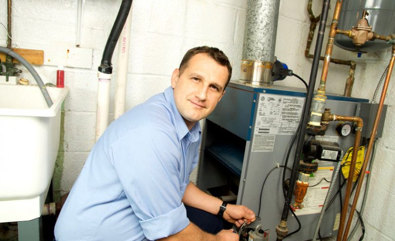 Mobile home gas furnace