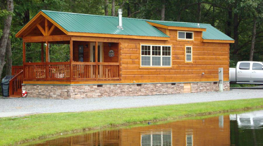 Log cabin mobile homes makes you feel at home with nature for Modular lake homes