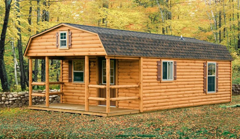 Mobile log cabin for rent
