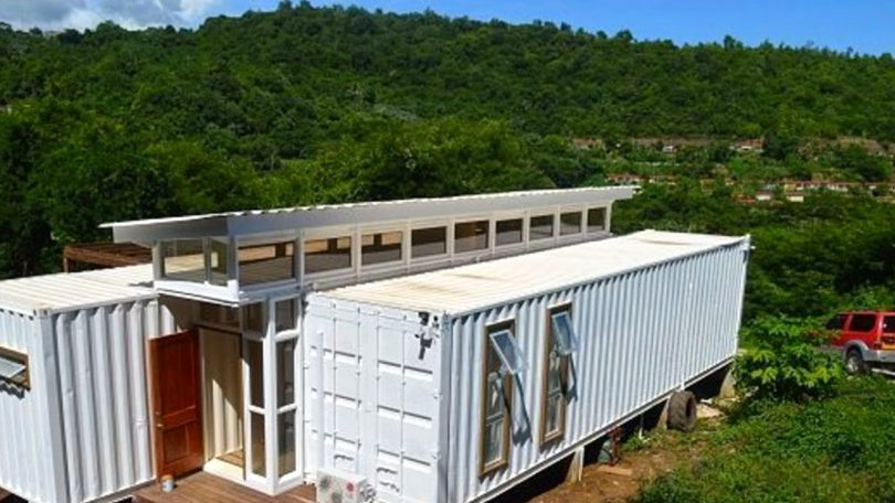 Mobile shipping container home