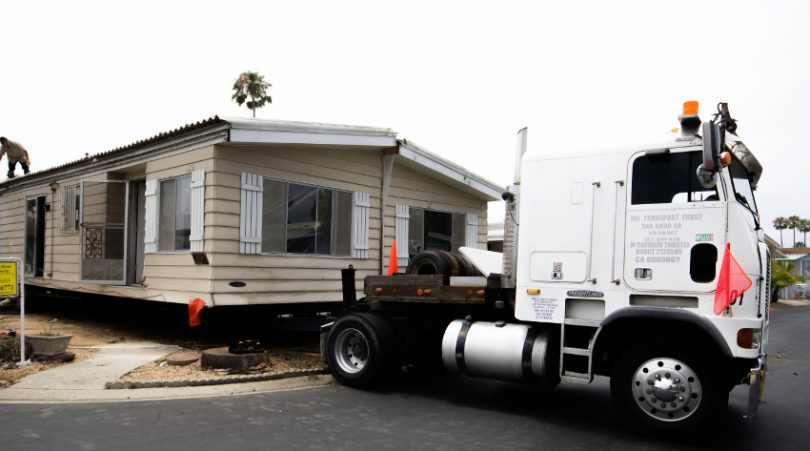 Moving out a mobile home