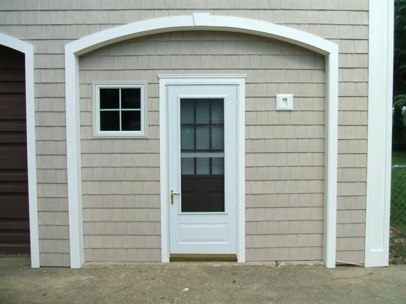 PVC storm door