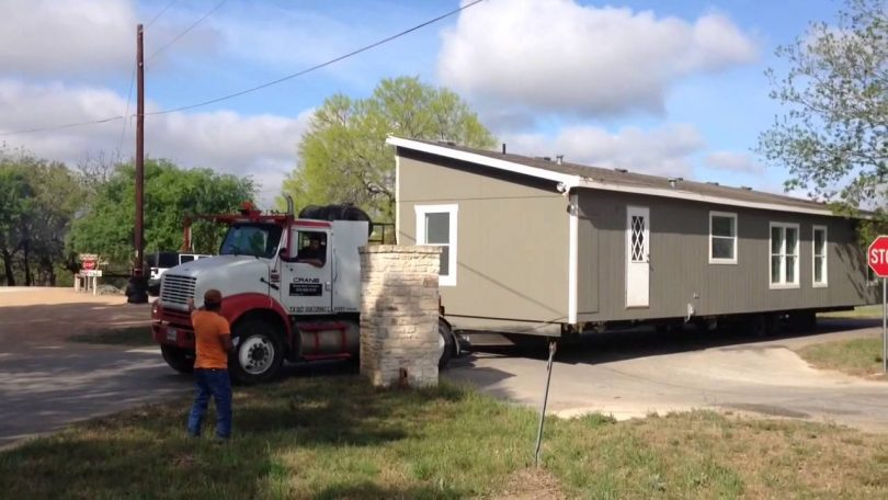 Parking a mobile home mover