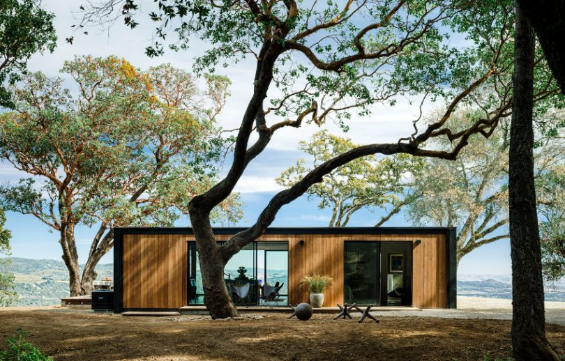 Prefab home up the mountain