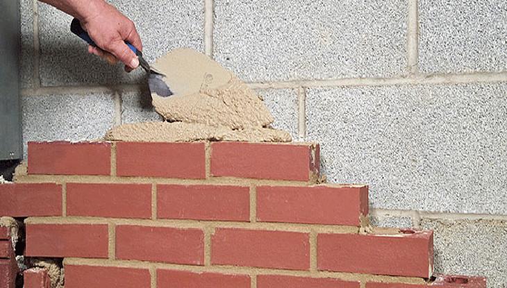 Reclaimed brick underskirting
