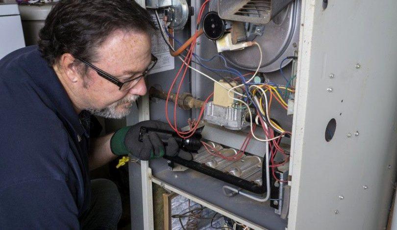 Repairing gas furnace