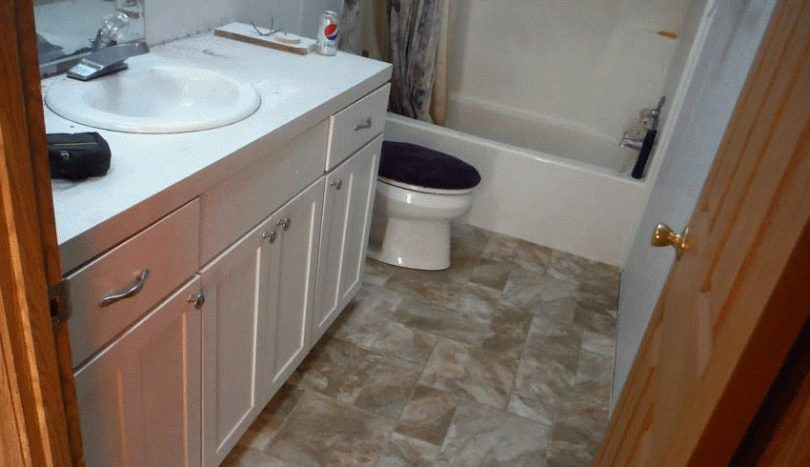 Replaced bathroom floor