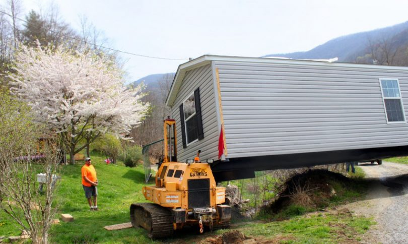 Setting up mobile home