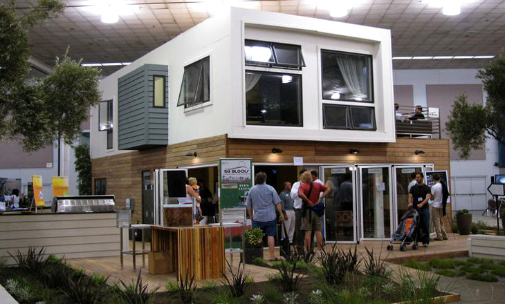 Shipping container home built offsite