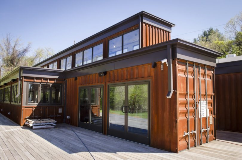 Shipping container home expansion