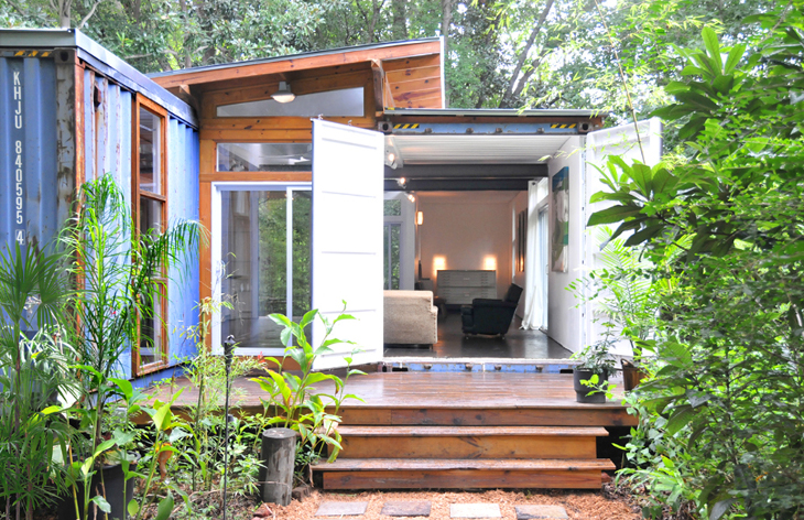 Shipping container home savannah design