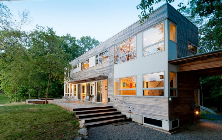 Stacked container home