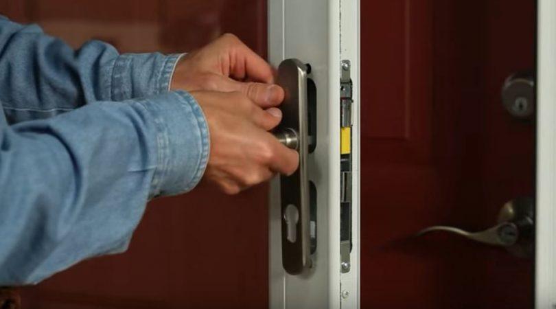 Storm door installation guide