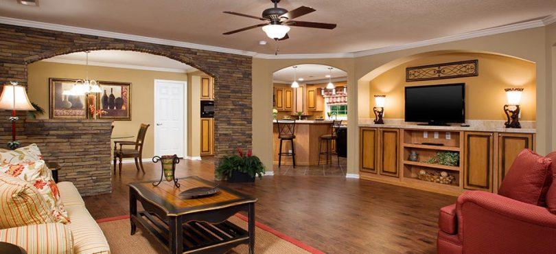 Triple wide prefab home interior