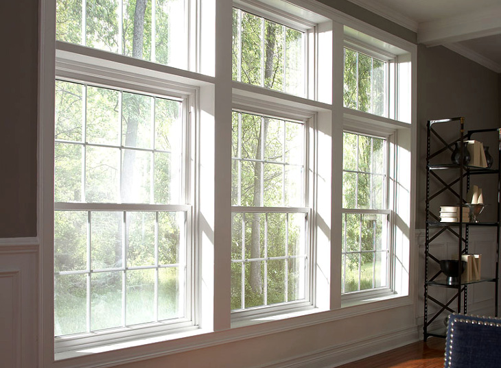 Vinyl double hung windows