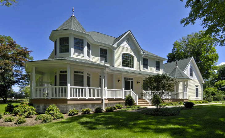 Colonial two story modular house