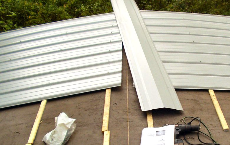 Double wide home roofing