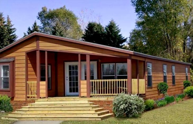 Log sidings of modular home
