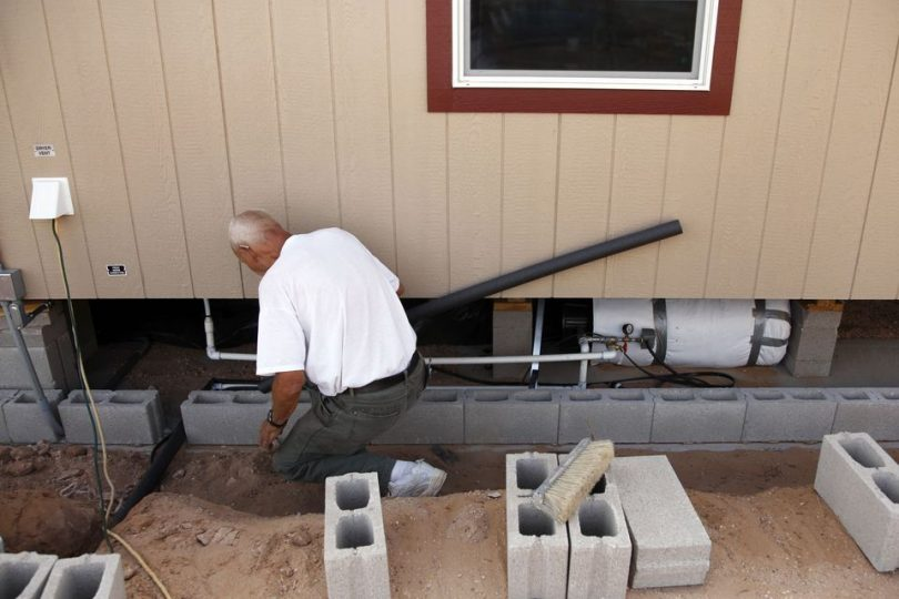 Mobile home drainage system
