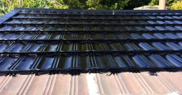 Mobile home roof sealing