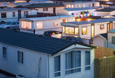 Mobile homes neighborhood