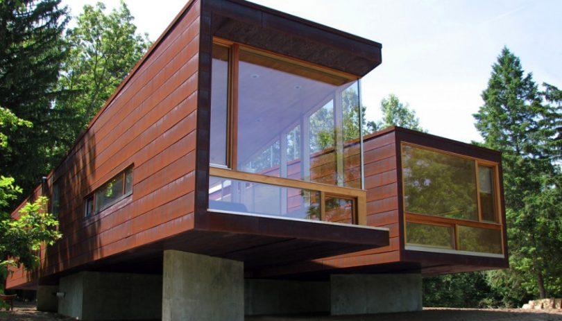 Modern modular home image