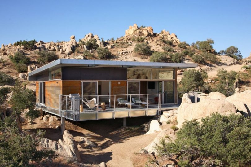 Modular home in desert
