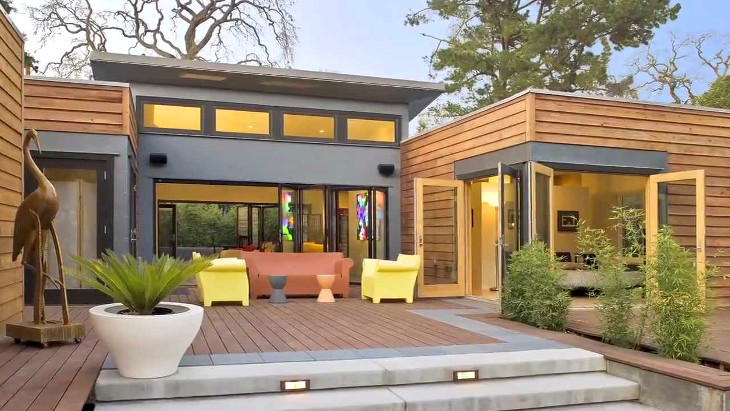 Modular home with outdoor couches