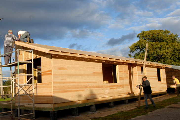 Onsite construction of mobile home