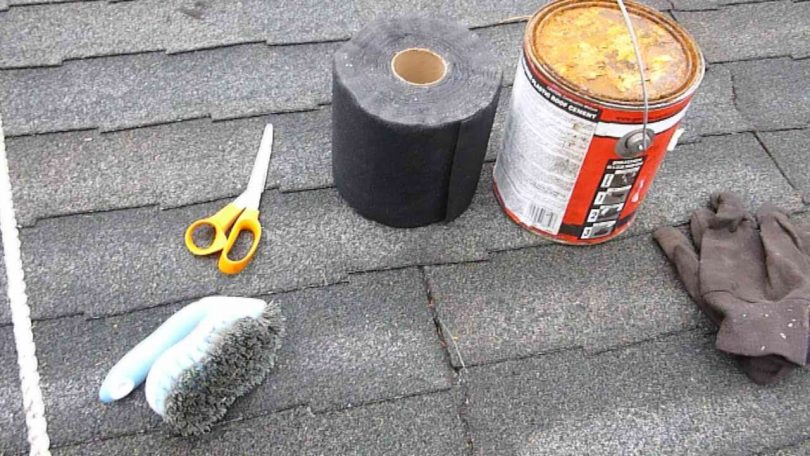 Repairing roof cracks