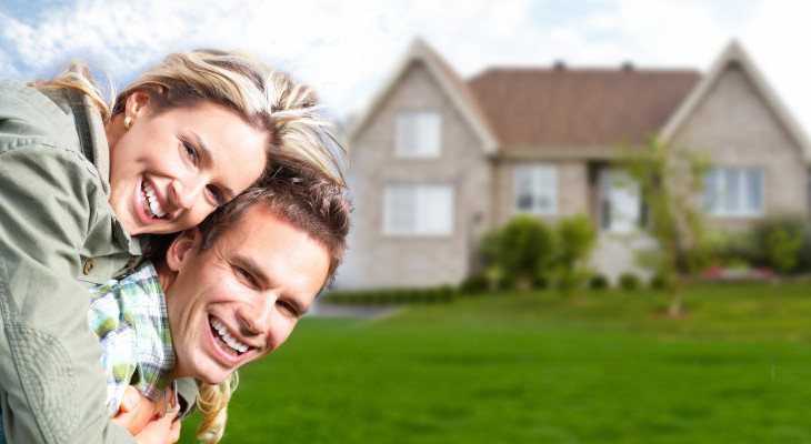 Couple insuring their property