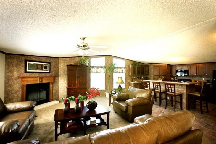 Living room of mobile home