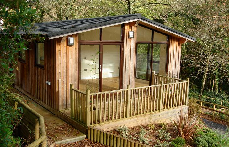 Log cabin mobile home