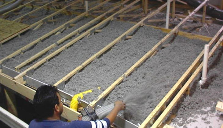 Mobile home floor insulation
