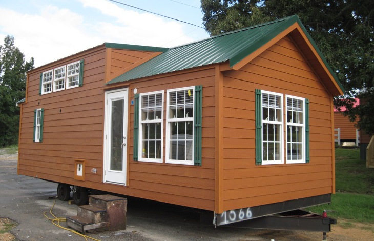 Mobile home in new location