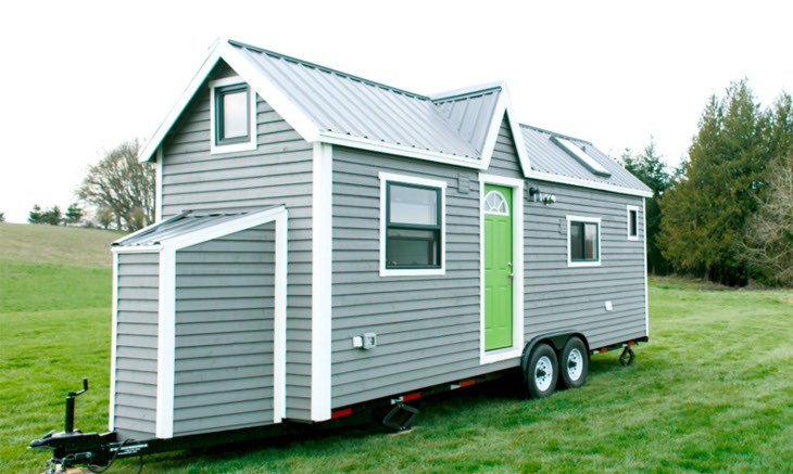 Mobile home on trailer frame