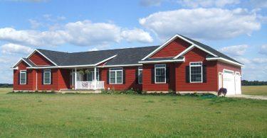 Modular home in open land