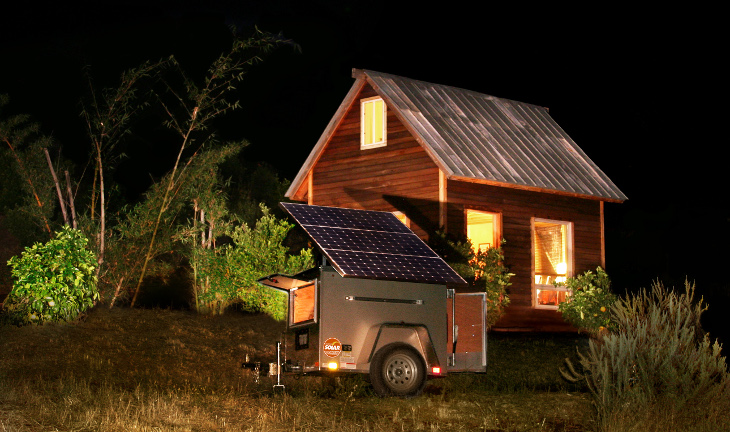 Solar powered mobile home