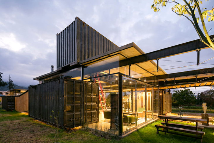 Ambient lighting inside container home