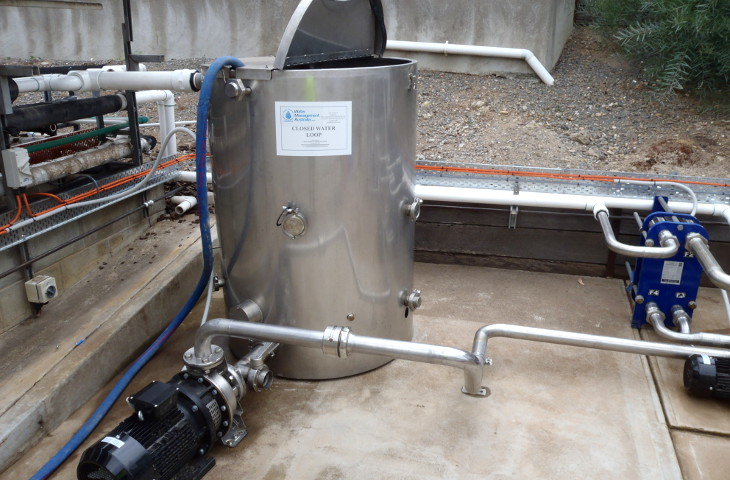 Closed loop water system treatment