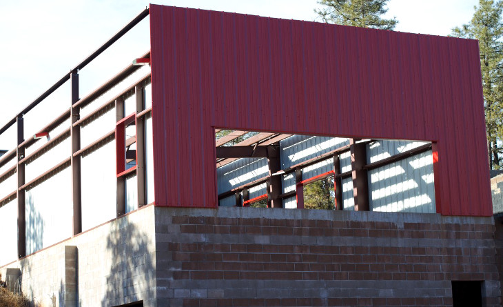 Customized container home siding