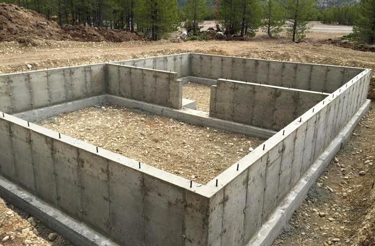 Foundation of a modular home