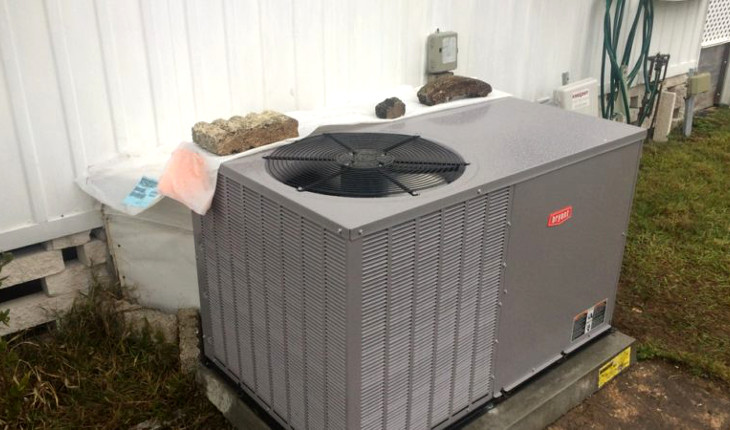 Heat pump for modular homes