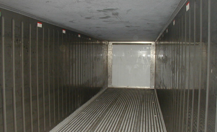 Inspecting a shipping container