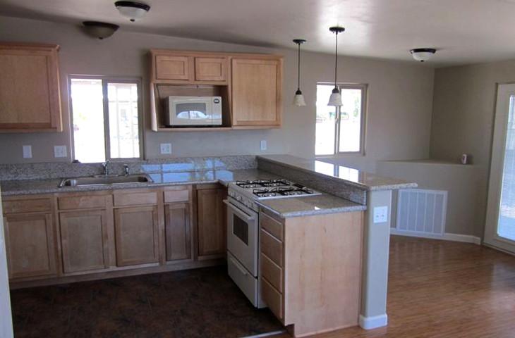 Kitchen with energy saving appliances