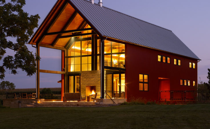 Luxurious pole barn home