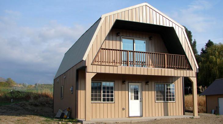 Modern barn type prefab home